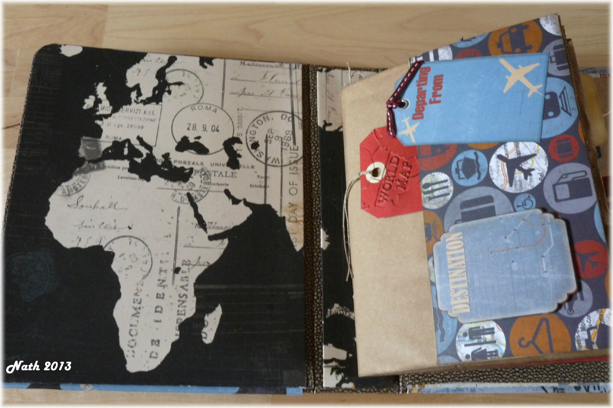 carnet de voyage sur la m dit rann e le scrap de nath. Black Bedroom Furniture Sets. Home Design Ideas