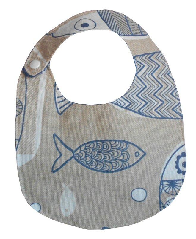 Enduit marron poissons bleus