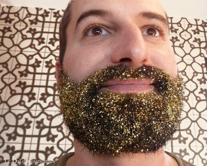 96 Blog Hipster Glitter Beard Paillettes Barbe Fête 3