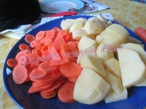 Cuisse de dinde à la crème et ses légumes01