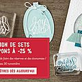 Promotions stampin up de novembre 2016