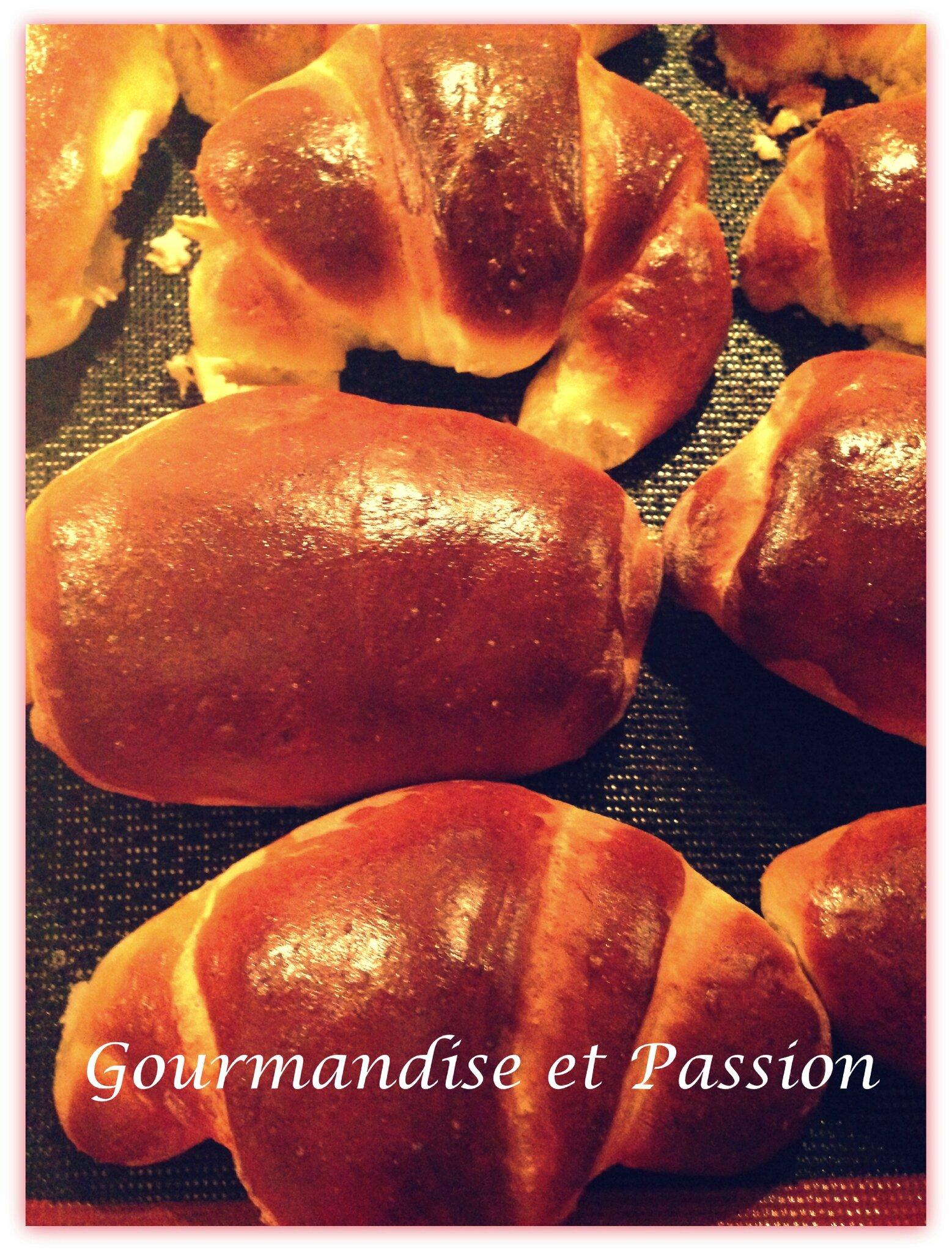Croissants et pains au chocolat briochés