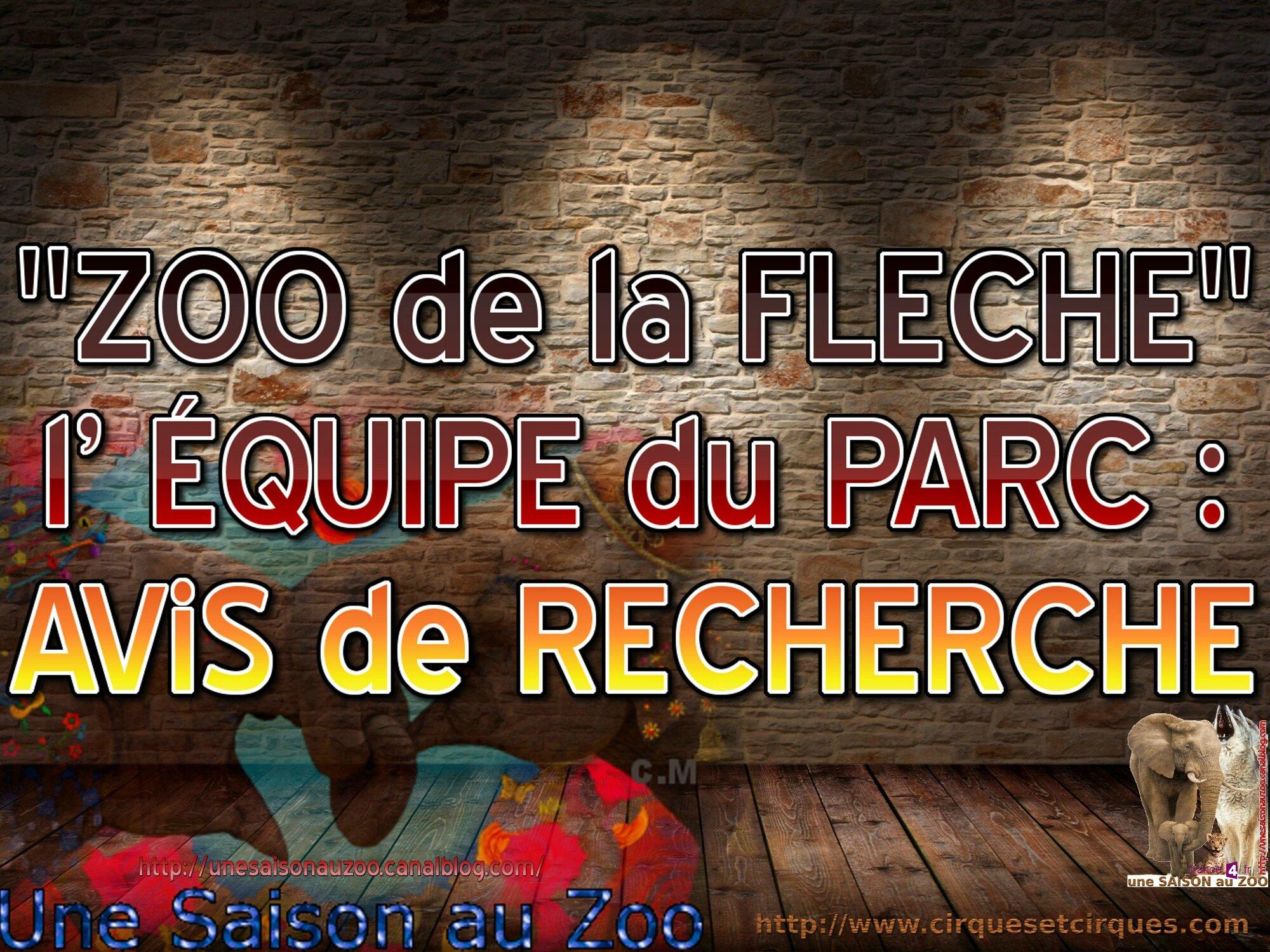 - ZOO de la FLECHE Une SAiSON au ZOO l' ÉQUIPE du PARC AViS de RECHERCHE