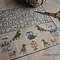 Teapot marking sampler de pineberry lane