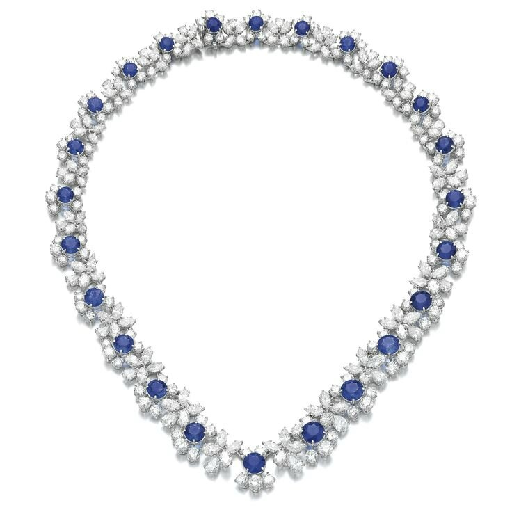 Sapphire and diamond necklace, Harry Winston