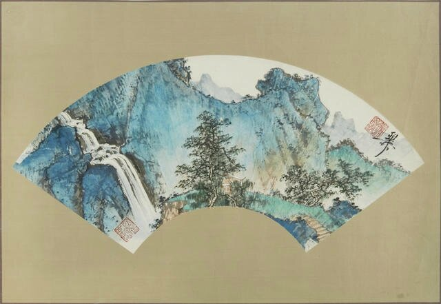 Xie Zhiliu (1908-1997), Mountain Landscape with Trees, 1986