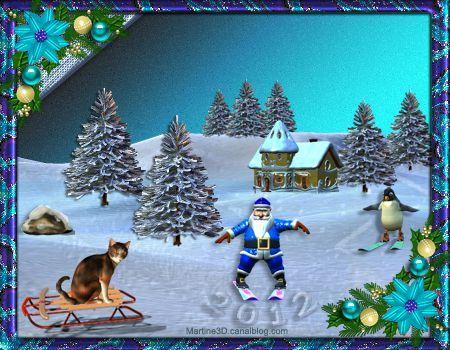 012-carte-bonne-annee-2012-voeux-pere-noel-neige-pingouin