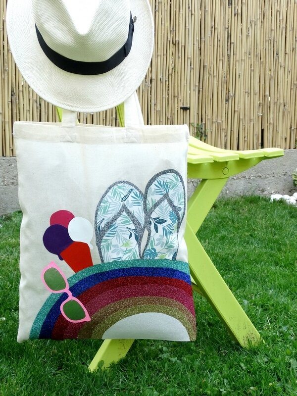 Tote_Bag_Rainbow_Summer_Tongs_Glace_Culturecouture_DTMlle_BD_1