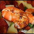 salade tide au chorizo et crevettes