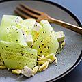 Salade de concombre, feta et pépinette