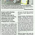 Le passage du tour de france a kruth un superbe evenement le 14 juillet 2014