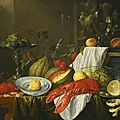 Jan davidsz. de heem (utrecht 1606 - 1683/4 antwerp), still-life with a lobster, fruit and blue and white 'kraak' dishes, ...
