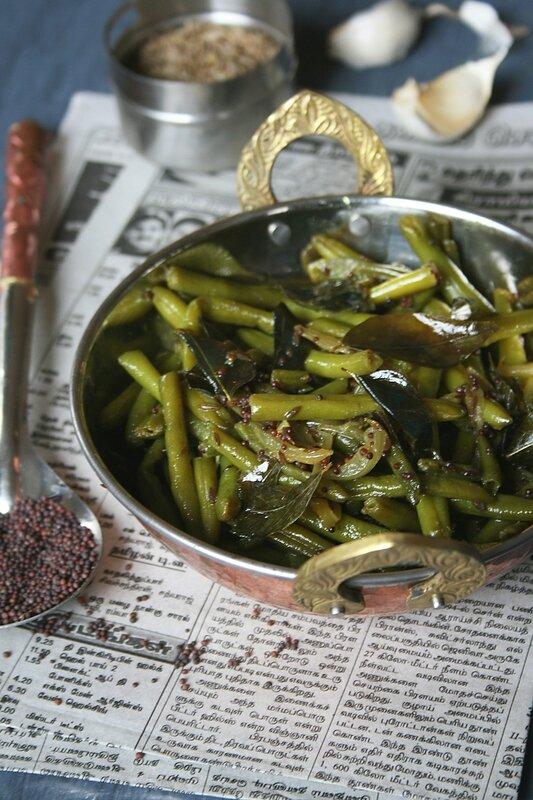 Haricots verts aux épices à l'indienne