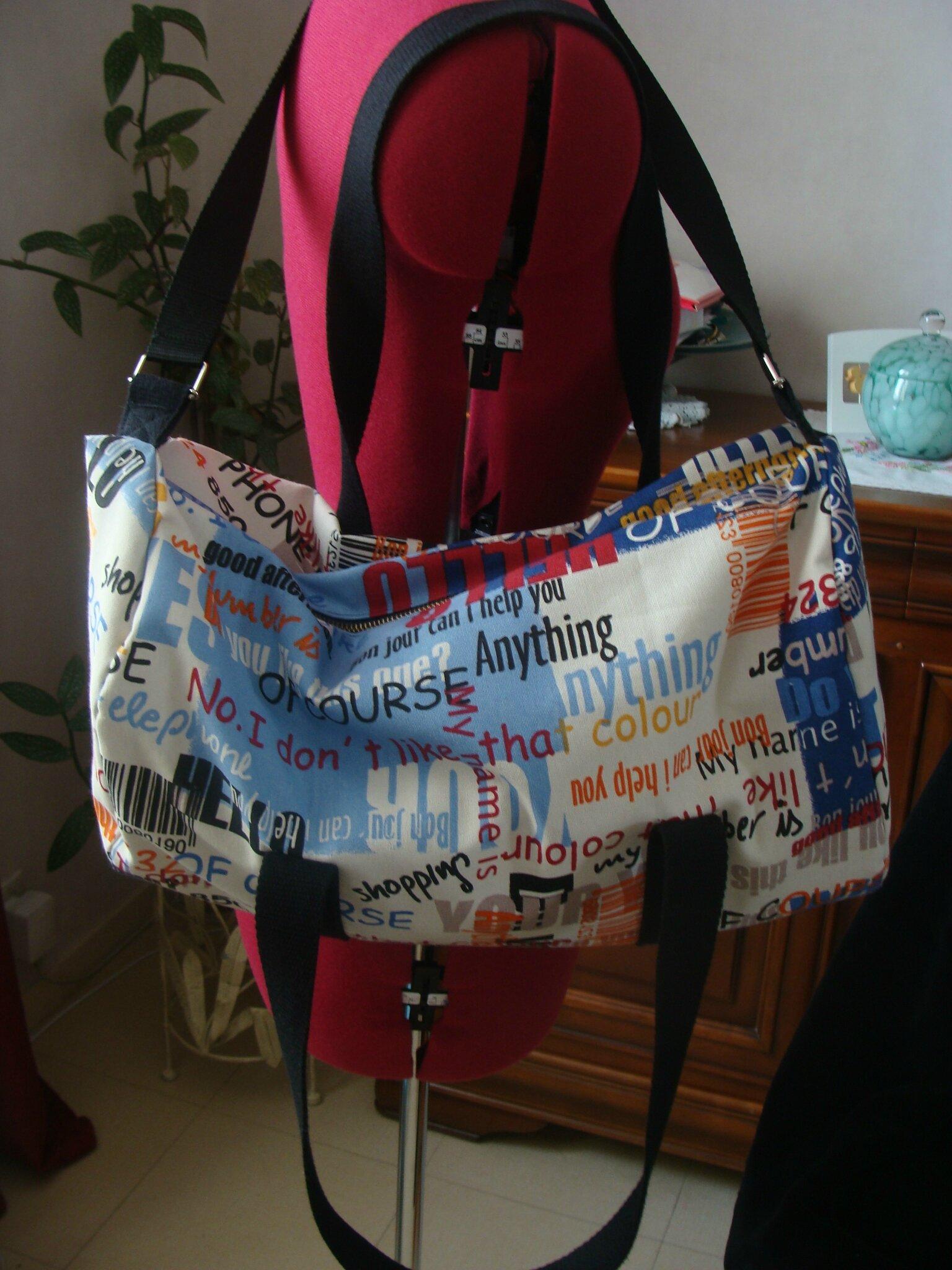 Je vous présente le sac polochon version sac de