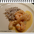 Crevettes sauce orange ww