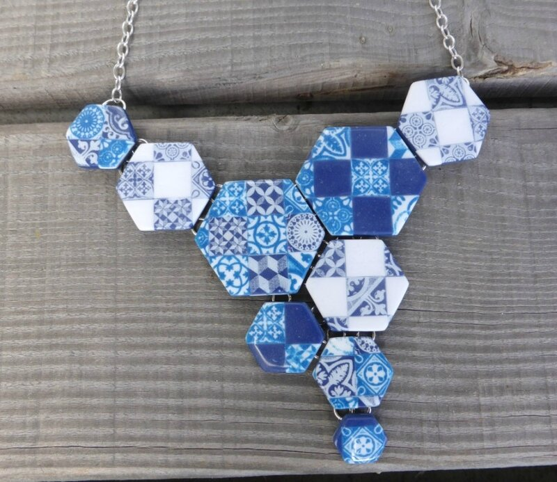 SOLY CAT-COLLIER 1 EFFET FAIENCE AZULEJOS