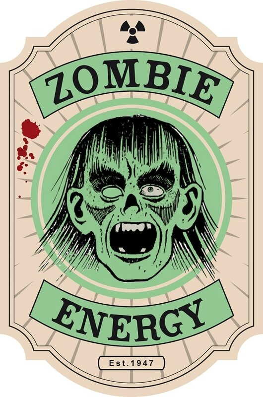 label halloween zombie tonic virus