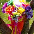 bouquet de fleurs ....idée récup