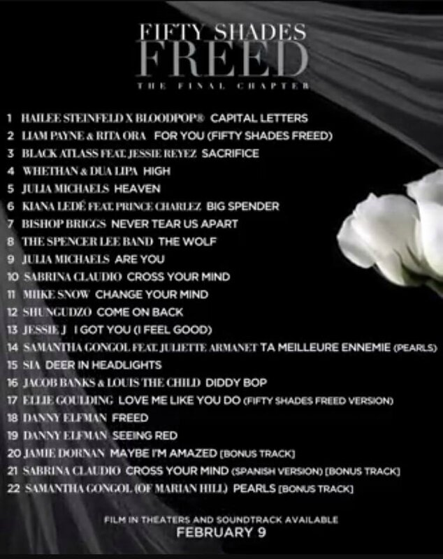 fifty shades soundtrack