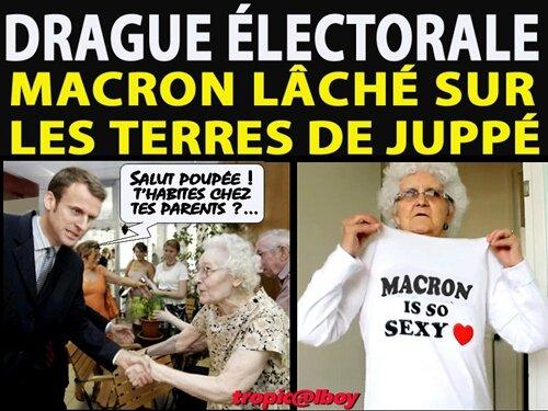 macron drague