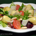 Salade d'artichauts au pamplemousse rose d'aprs Jamie Oliver