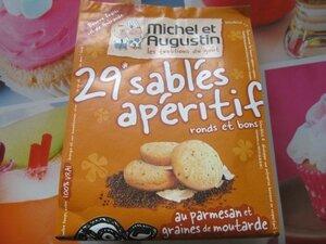 sablés apéritif parmesan & graine de moutarde Michel & Augustin