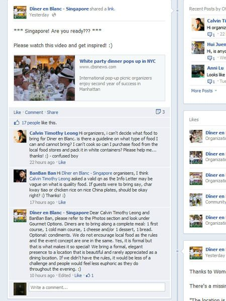 Diner en Blanc Facebook reply