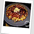Okonomiyaki ou crêpe japonaise