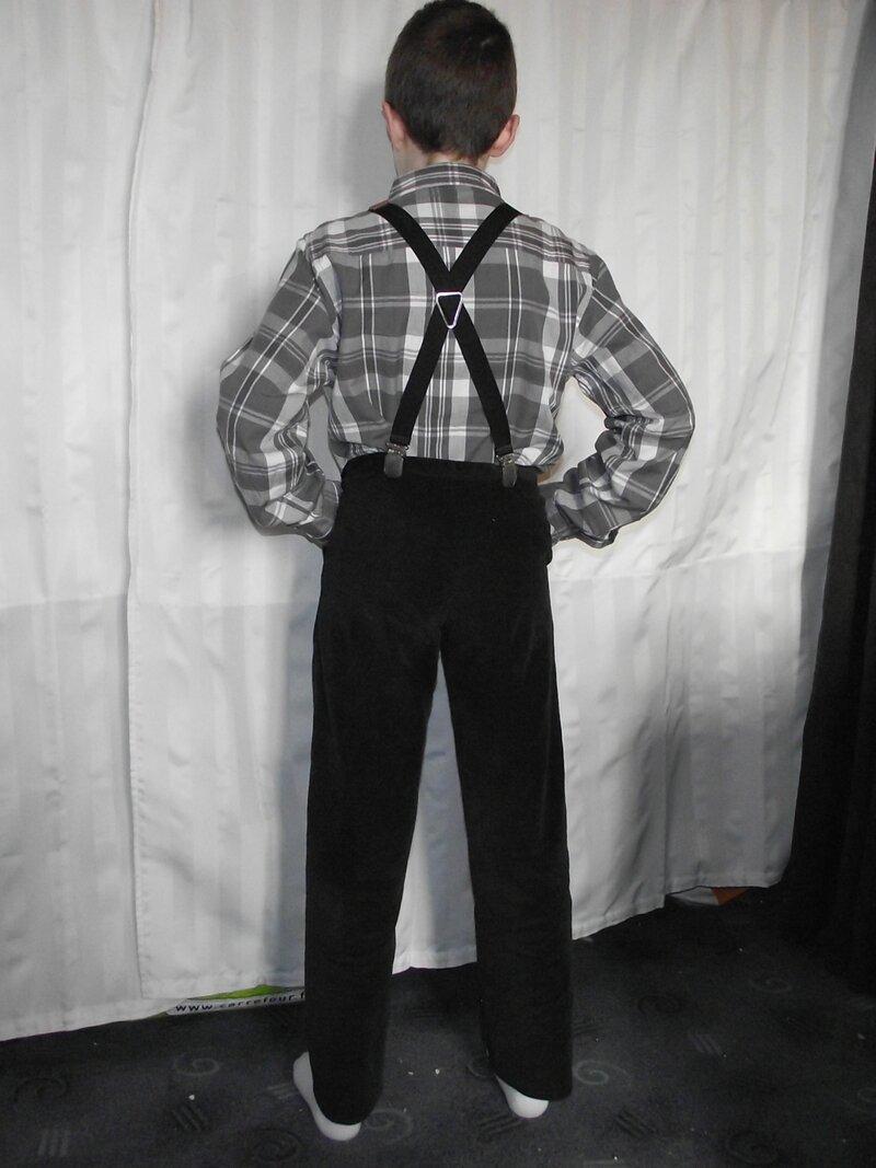 Pantalon Burda 9781 velours fin noir 4