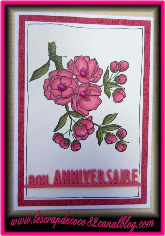 Carte bon anniversaire pour maman le scrap de coco82 - Carte bon anniversaire maman ...