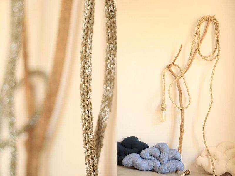 Baladeuse luminaire laine coton lurex tendance Trendy Little 5