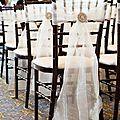 chaises avec broche et tissu