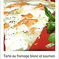 Une tarte fromage blanc-saumon fum