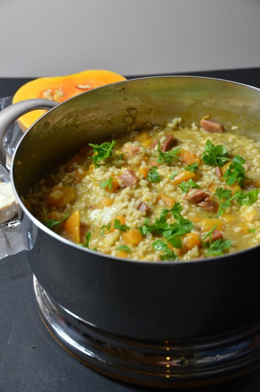 risotto courge et ambert