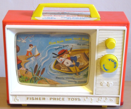 tv fisher price ok photo de jouets vintage marre du rose. Black Bedroom Furniture Sets. Home Design Ideas