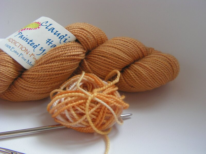 claudia hand painted yarn - honey