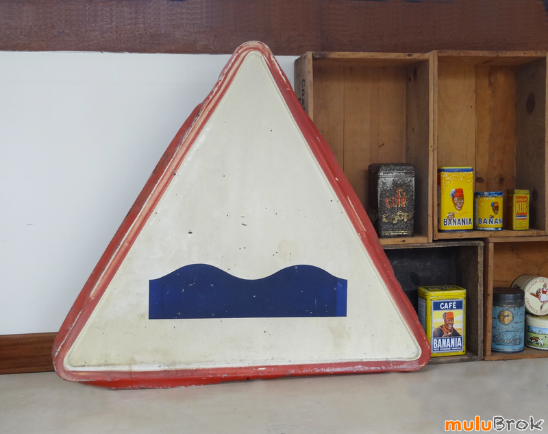 d co garage ancien panneau signalisation 1960 dos d 39 ne ou cassis mulubrok brocante en. Black Bedroom Furniture Sets. Home Design Ideas