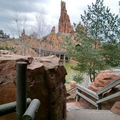 Frontierland : Big Thunder Mountain - le train de la mine