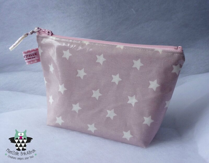 Trousse Ecolier ROSE verso