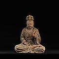 Bodhisattva assis, chine, dynastie ming, entre le xve siècle et le xvie siècle
