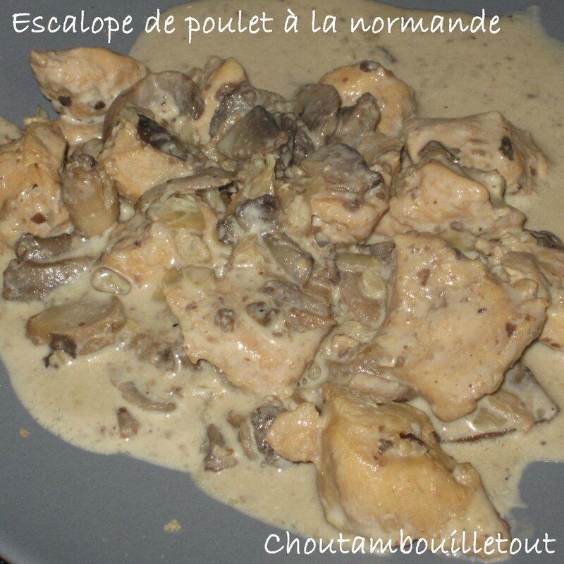 escalope poulet normande