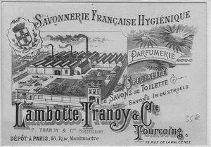 TG CARTE PUB SAVONNERIE LAMBOTTE TRANOY