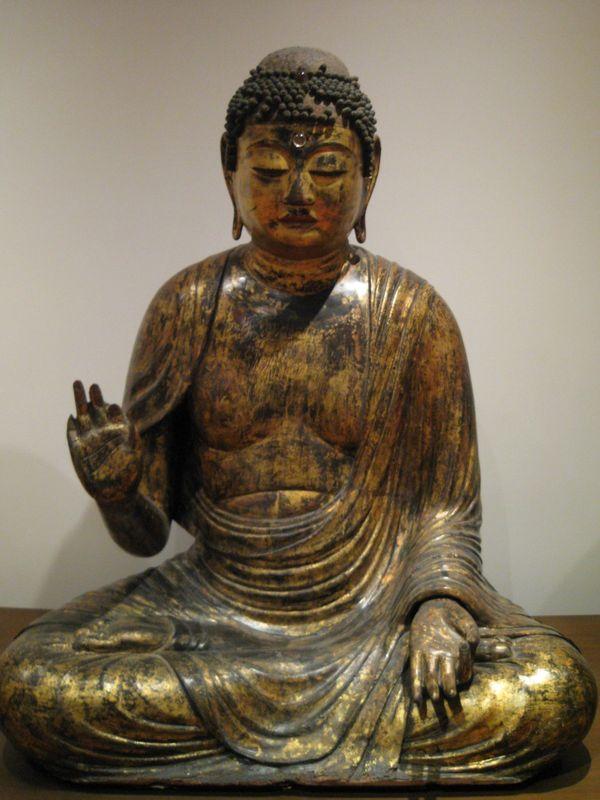 Amida nyôrai, deuxième moitié de l'époque de Heian, période des Fujiwara, XIIème s
