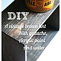 Diy a vintage brown tint with an old grey wood effect with...pretty much nothing!!! ;)