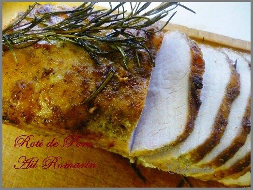 roti de porc aail romarin