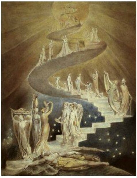 Le rêve de Jacob, William Blake, vers 1800