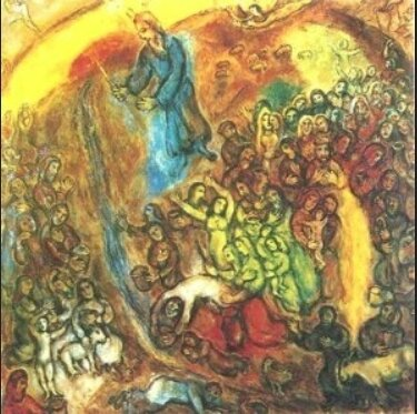Moïse frappe le rocher, Chagall