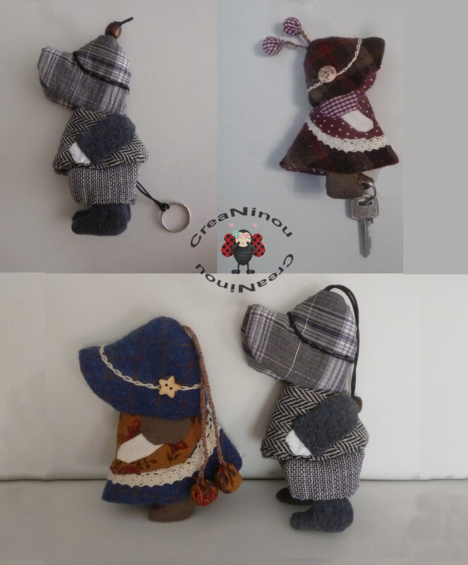 porte clefs sunbonnet sue et billy D
