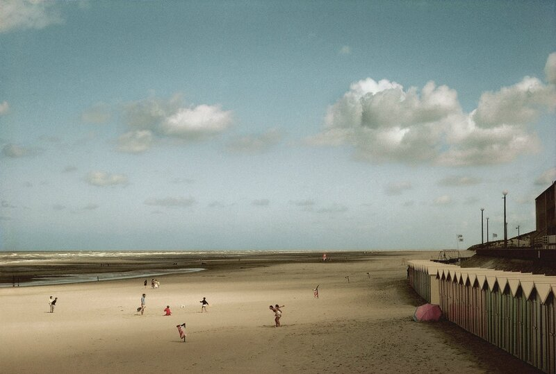 Harry Gruyaert FRANCE. Picardie region. Bay of the Somme river. Beach of the town of Fort Mahon. 1991