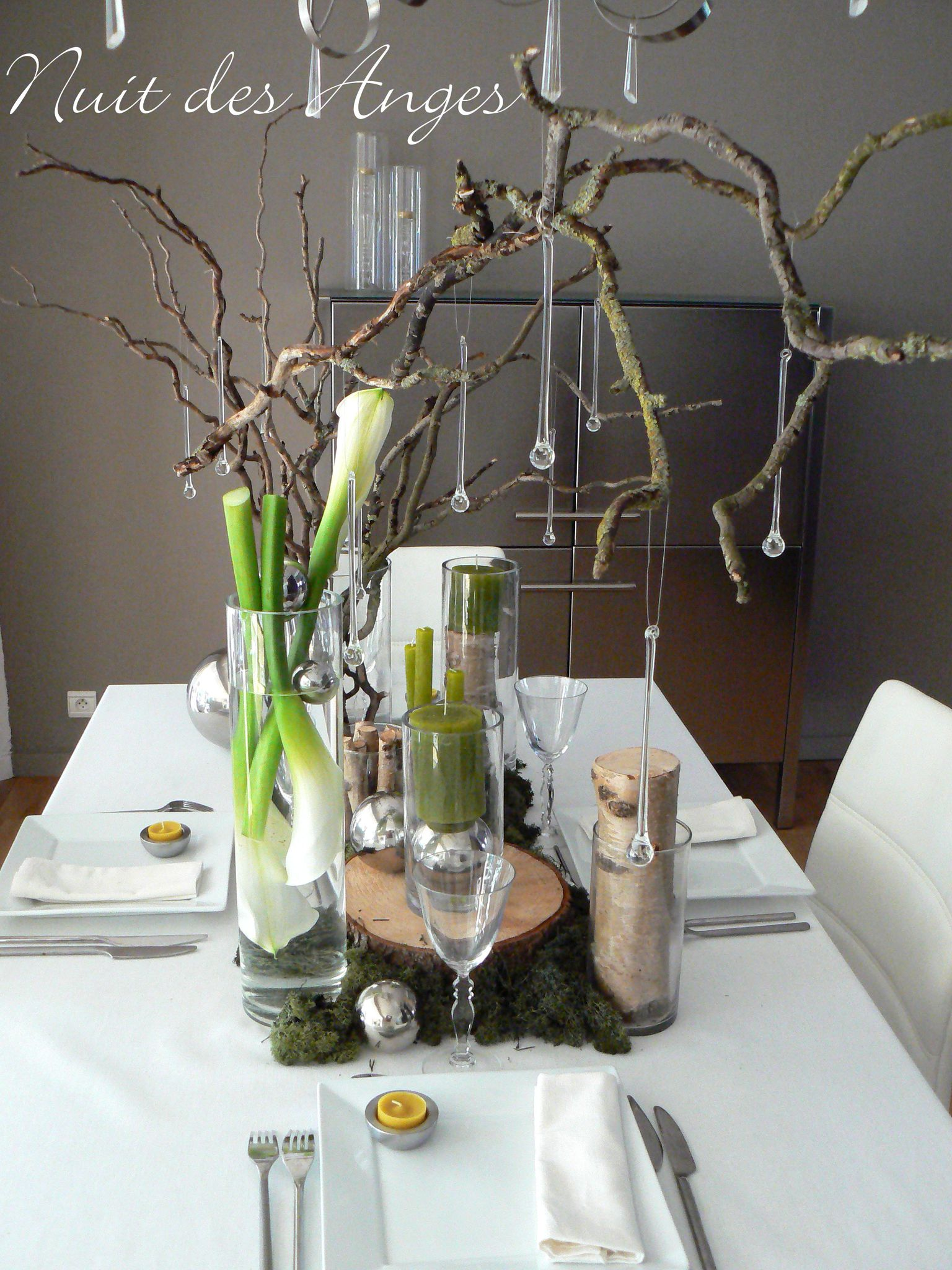 Nuit des anges d coratrice de mariage d coration de table jardin nature 001 - Decoration de table nature ...